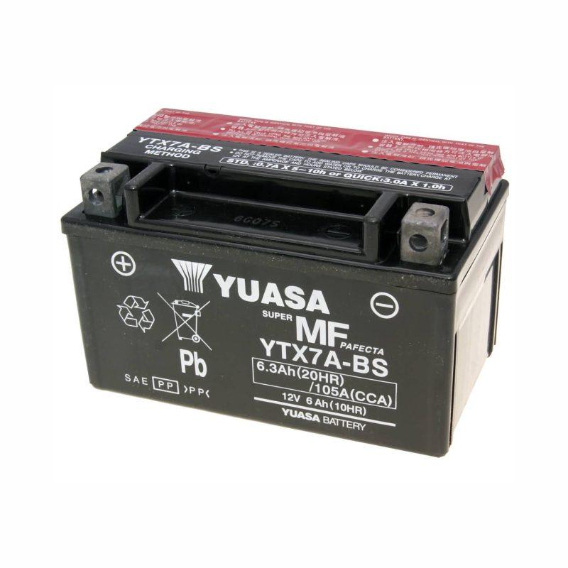 باتری اتمی موتورسیکلت SYM مدل 12V-7 YUASA