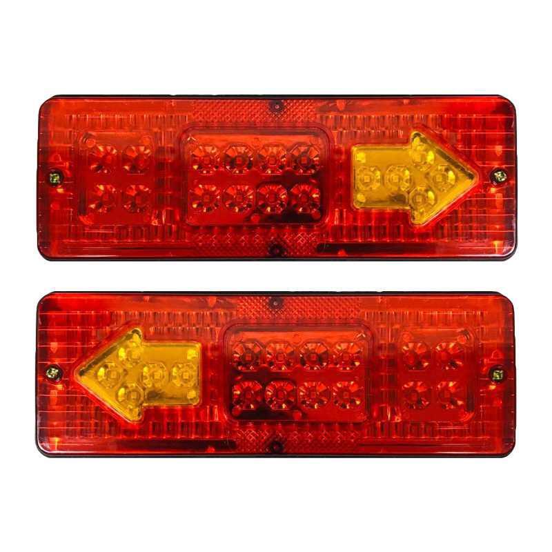 چراغ خطر عقب سه چرخ باری مدل کوتاه LED